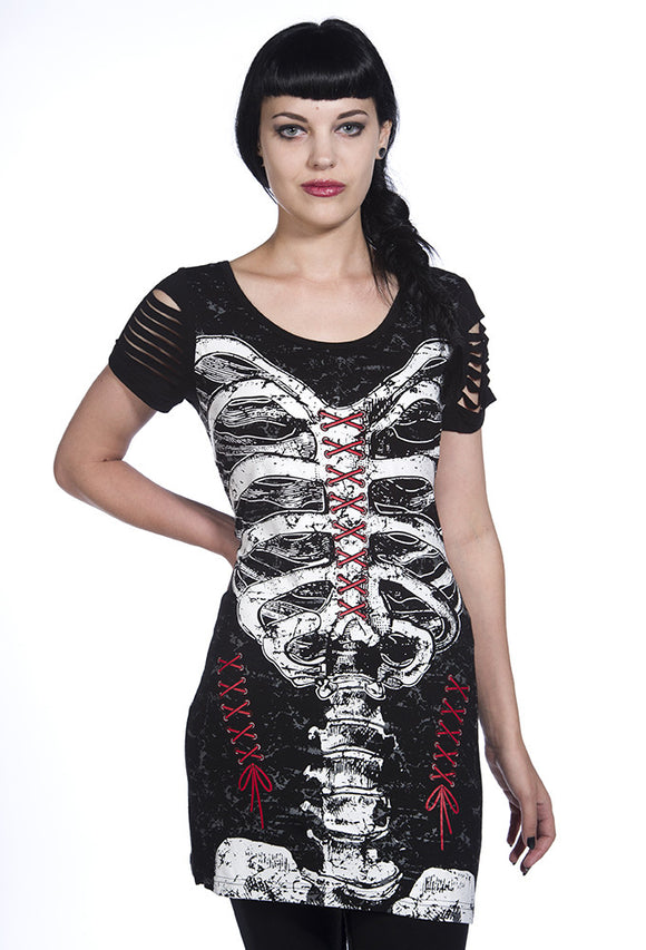 Banned Clothing - Corset Skeleton Top - Egg n Chips London