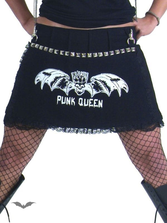 Queen of Darkness - PUNK QUEEN miniskirt with rivets