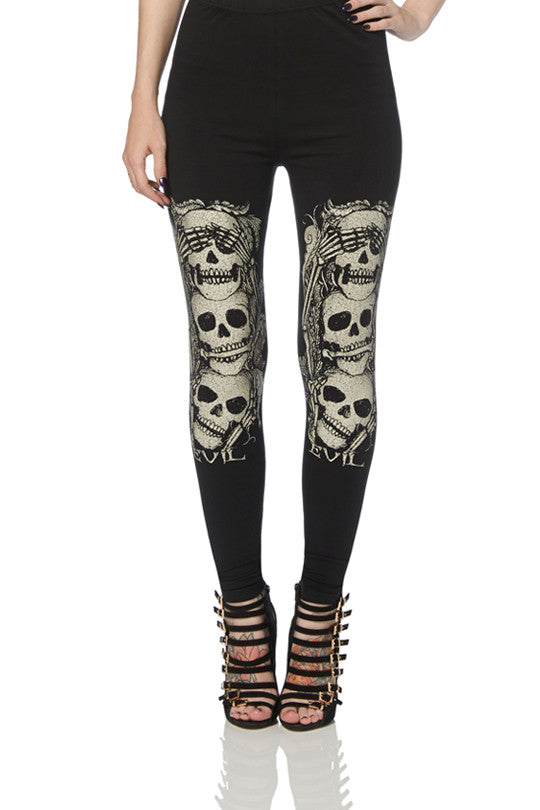 Jawbreaker Clothing - Peekaboo Skull Leggings - Egg n Chips London