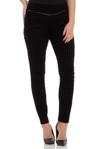 Voodoo Vixen - Peggy Checkered Skinny Fit Trouser - Egg n Chips London