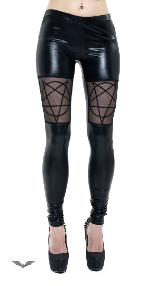 Queen of Darkness - Pentagram Leggings