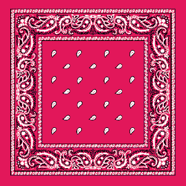 Pink and White Paisley Bandana