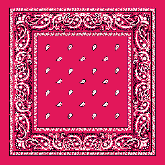 Pink and White Paisley Bandana - Egg n Chips London