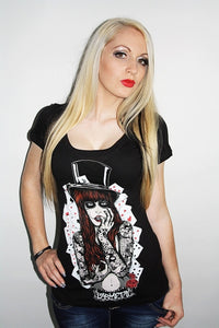 Barmetal Clothing - Poker Pleasure Scoopneck Top - Egg n Chips London