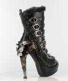 Hades Shoes - Polaro Steampunk Buckle Up Booties - Egg n Chips London