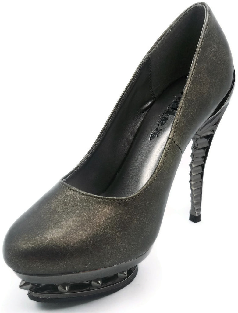 Hades Shoes - Predator Pewter Steampunk Heels