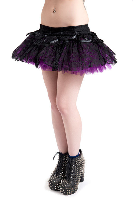 Jawbreaker Clothing - Purple Mini layered Ghoul Tutu - Egg n Chips London
