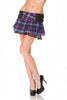 Jawbreaker Clothing - Purple Tartan Patterned Mini Skirt - Egg n Chips London