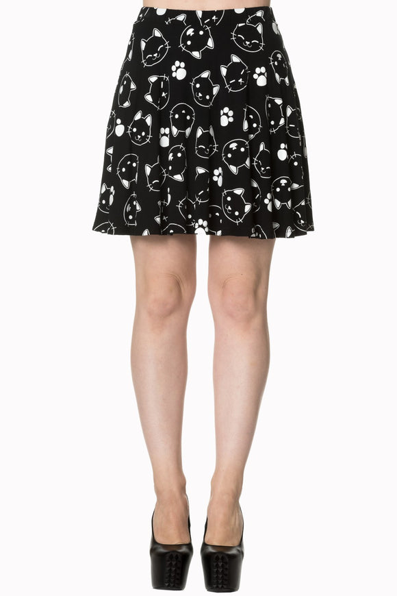 Banned Apparel - Purrrrfect Kitty Skater Skirt - Egg n Chips London