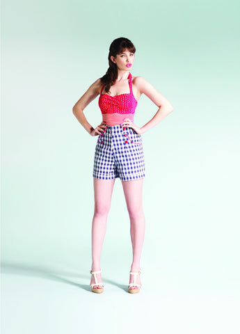 Friday On My Mind - Gingham Rodeo Shorts