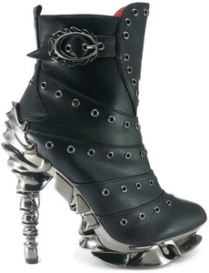 Hades Shoes - Raven Stiletto Booties