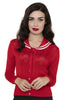 Voodoo Vixen Clothing - Red Ship-Shape Summer Cardigan - Egg n Chips London