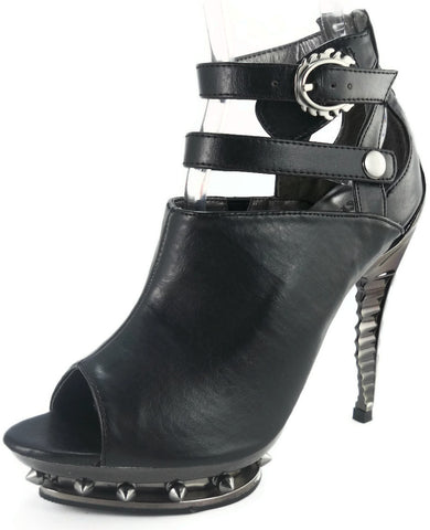 Hades Shoes - Rogue Steampunk Spinal Heel Booties