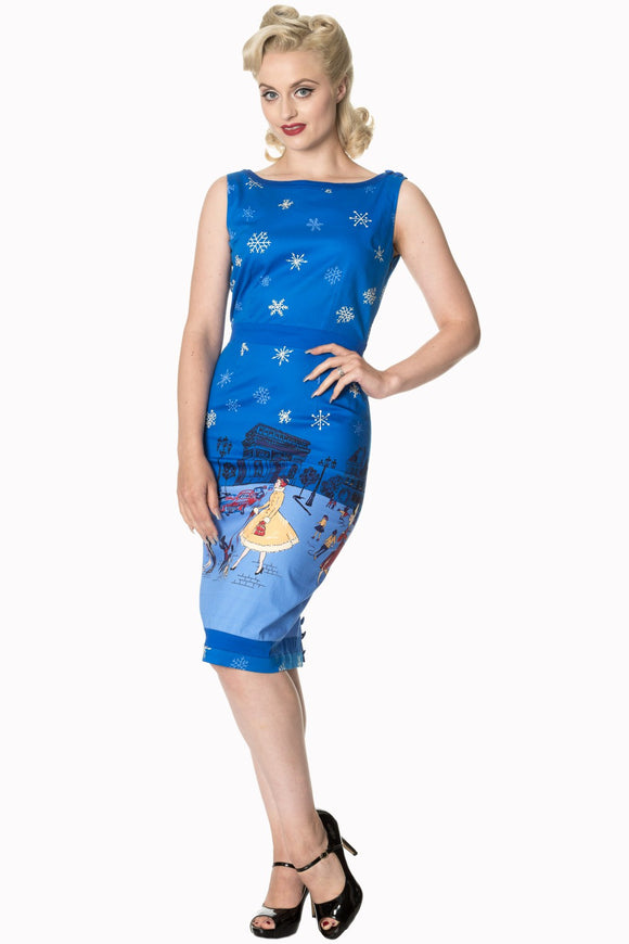 Banned Apparel - Romance Lives Pencil Dress - Egg n Chips London