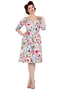 Voodoo Vixen - Rosie Summer's Eve Classic Floral Dress - Egg n Chips London