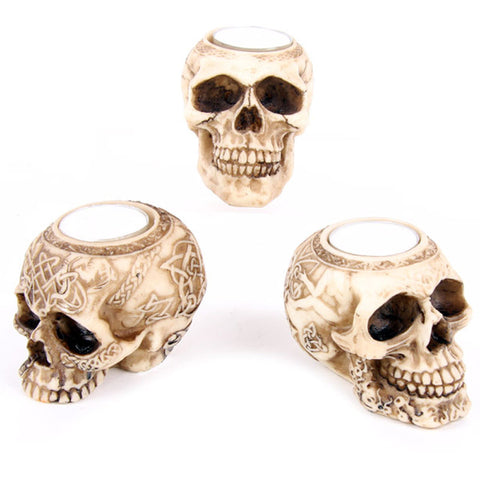 Egg n Chips London - Celtic Skull Head Tealight Holder