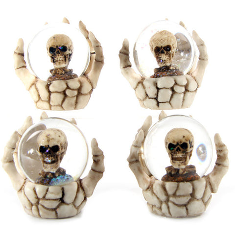 Egg n Chips London - Fantasy Skeleton Hand and Skull Snow Globe