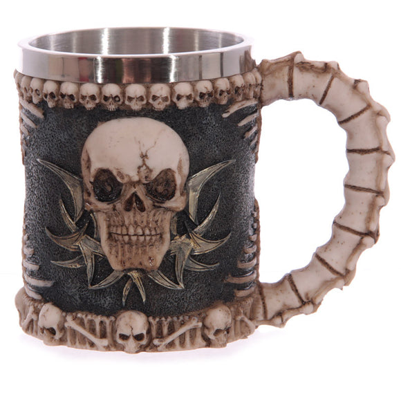 Egg n Chips London - Decorative Fantasy Skull and Spine Tankard - Egg n Chips London