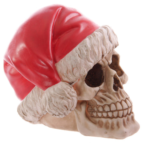 Egg n Chips London - Funky Skull Decorative Wearing Santa Hat