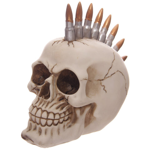 Egg n Chips London - Funky Gruesome Bullet Mohican Skull Ornament