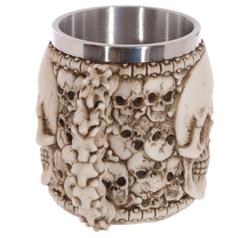 Egg n Chips London - Gothic Skull Decoration Decorative Multi Skull Tankard - Egg n Chips London