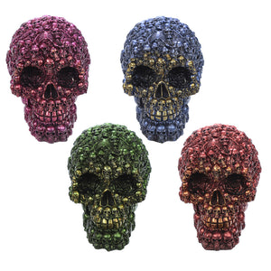 Fantasy Metallic Skull Ornament SK265