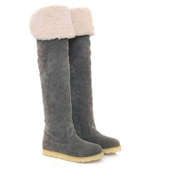 Winter Suede Warm Over Knee High Snow Boots