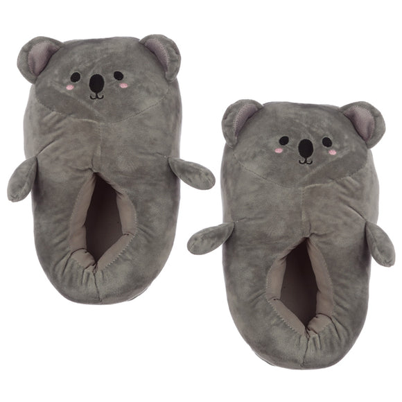Cute Koala Unisex One Size Pair of Plush Slippers
