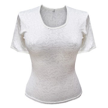 Dead Threads - Women's Cream Half Sleeve Scoop Neck Top