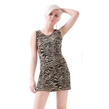 Dead Threads - Women's Animal Print Scoop Neck Sleeveless Dress