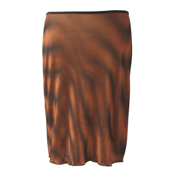 Dead Threads - Women's Brown Knee Length Mini Skirt