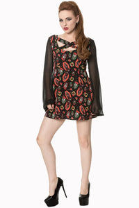 Banned Apparel - Sacred Heart Flare Sleeve Dress - Egg n Chips London