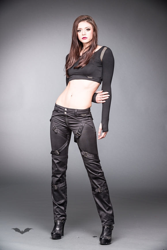 Queen of Darkness - Shiny pants with buckles