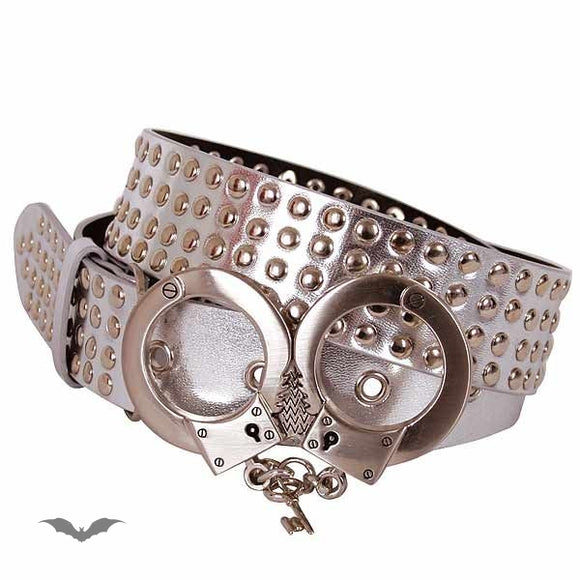Queen of Darkness - Silver with 4 rows of studs. Handcuffs o