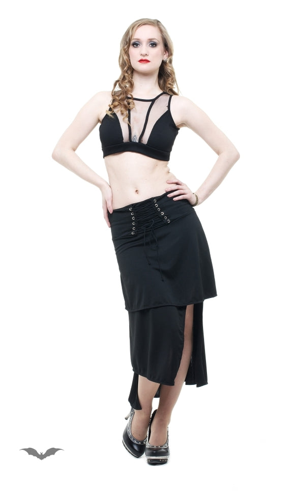 Queen of Darkness - Skirt with lacing