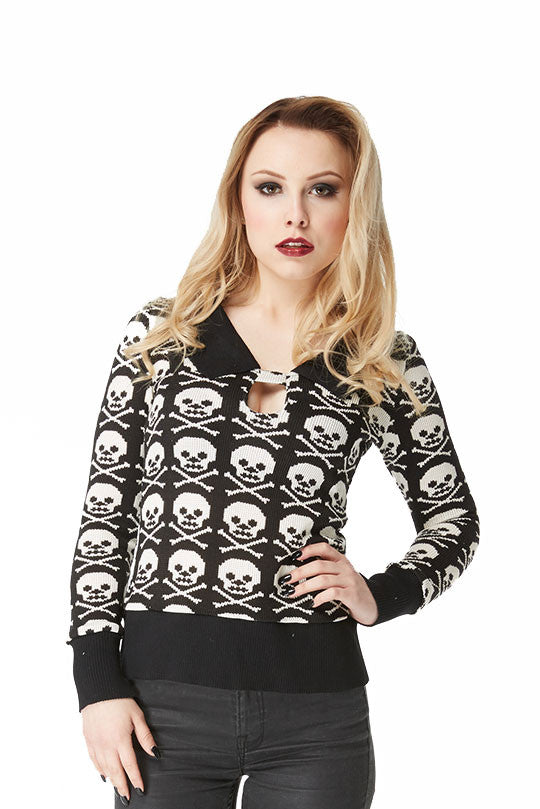 Jawbreaker Clothing - Steampunk Skull Candy Jumper - Egg n Chips London