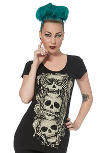 Jawbreaker Clothing - Slash Back Skull Tee - Egg n Chips London