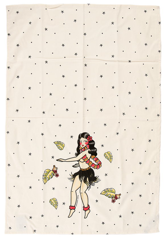 Sourpuss - Hula Girl Dish Towel