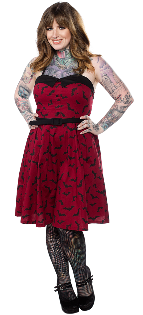 Sourpuss - Rockabilly Luna Bats Spooksville Dress