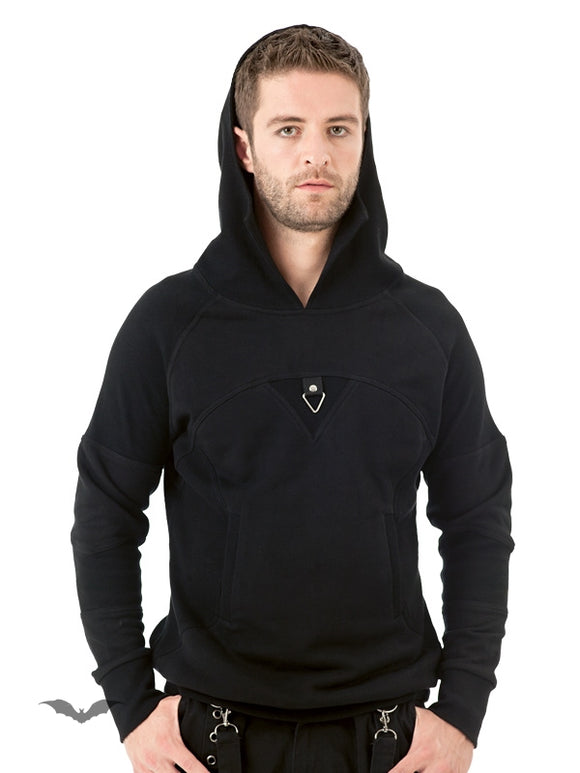 Queen of Darkness - Stylish Hoodie with Decorative Stitching