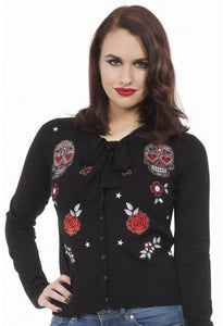 Jawbreaker Clothing - Sugar Skull Sour Cardigan - Egg n Chips London