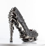 Hades Shoes - Stone Talon Spinal Heels - Egg n Chips London