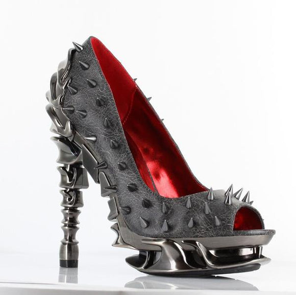 Hades Shoes - Stone Talon Spinal Heels SALE ITEM