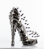 Hades Shoes - White Talon Spinal Heel - Egg n Chips London