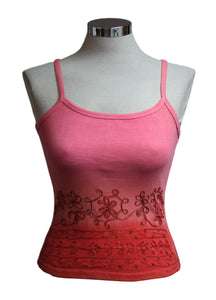 Dead Threads - Women's Pink Dip Dyed Strap T-shirt