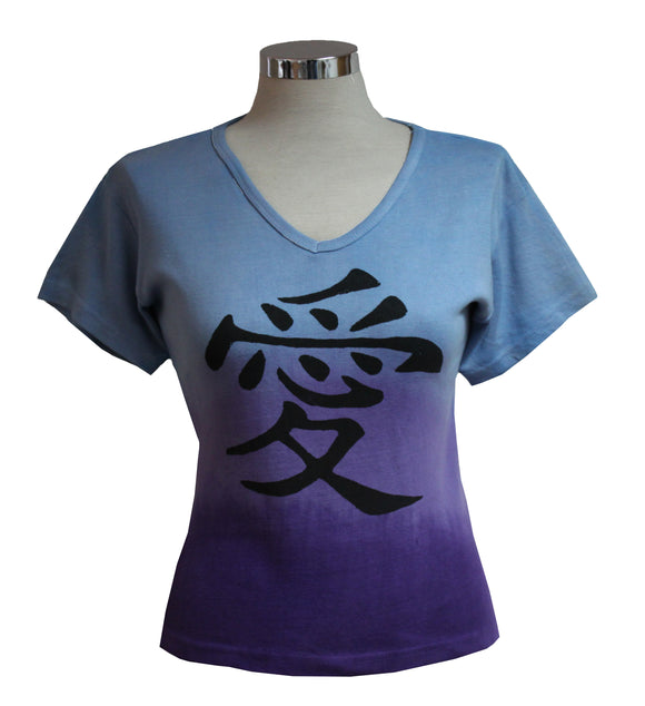 Dead Threads - Women's Blue Dip Dyed Half Sleeve T-shirt