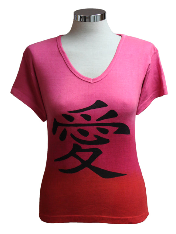 Dead Threads - Women's Fuchsia Dip Dyed Half Sleeve T-shirt