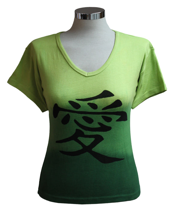 Dead Threads - Women's Green Dip Dyed Half Sleeve T-shirt