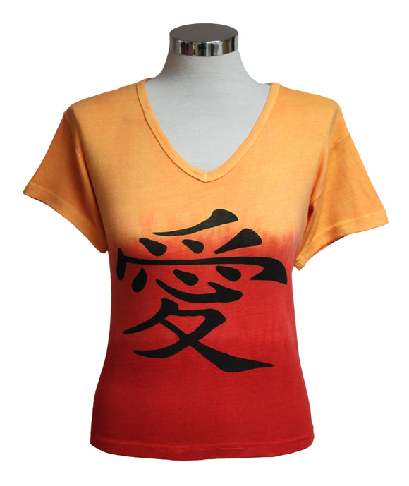Dead Threads - Women's Orange Dip Dyed Half Sleeve T-shirt