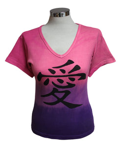 Dead Threads - Women's Pink Dip Dyed Half Sleeve T-shirt